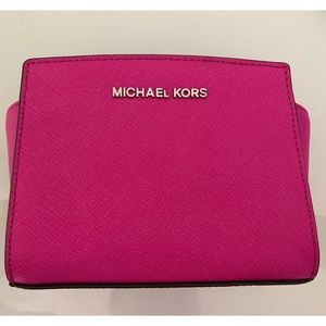 Michael Kora Hot Pink Mini Selma Crossbody